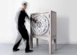Unique Cabinet Whimsy Safe Cabinet Inspired By Safety Vaults Digsdigs