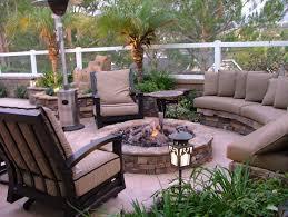 garden wooden seats green grass modern backyard among also with