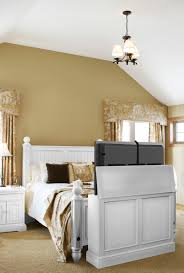 White Bedroom Tv Cabinet Carousel Tv Lift Cabinet U0027 In A Fully Decorated Room This Is What