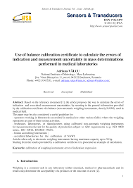 calibration report template use of balance calibration certificate to calculate the errors of