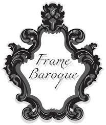 baroque rococo mirror frame set stock image image 73891847