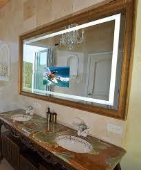 bathroom cabinets bathroom mirror television lighted mirror tv