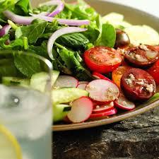 green salad with strawberries u0026 goat cheese recipe eatingwell