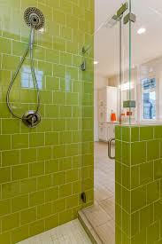 photos hgtv glass enclosed shower with lime green tiles idolza photos hgtv glass enclosed shower with lime green tiles