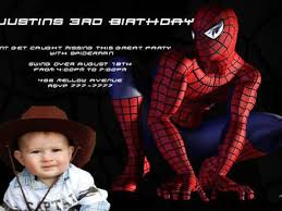 customized spiderman birthday invitations image collections