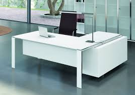 bureau de direction avec retour bureau de direction design blanc contemporain seven