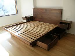 wood bed frame with drawers im not sure how easy this would be to build but i love the built