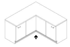 küche bodenleiste küchen sockelsystem aus aluminium in inox oberfläche