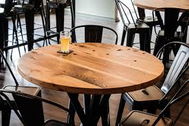 industrial style pub table industrial style reclaimed wood pub tables by john malecki