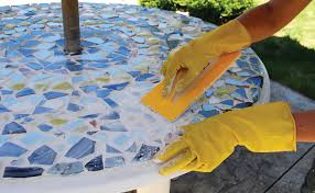 Mosaic Patio Table Top by Diy Mosaic Patio Table Our Homes Magazine