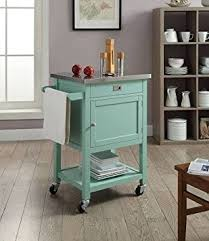 kitchen island carts amazon com sydney kitchen island cart light green with