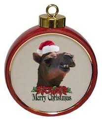 baboon ceramic red drum christmas ornament thinking christmas