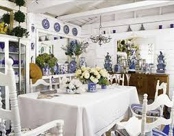 Chinoiserie Dining Room Berkeley CA Sally Swing - Blue and white dining room