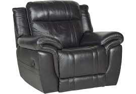 Black Leather Recliner Martino Black Leather Glider Recliner Leather Recliners Black