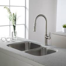 nickel pull down kitchen faucet tags contemporary kitchen pull