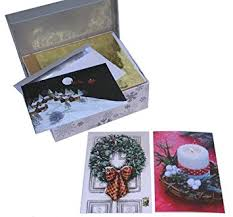 40 boxed embellished cards premium glitter