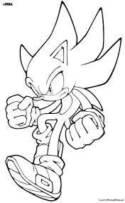 Sonic The Hedgehog Clipart Coloring Page Pencil And In Color Free Sonic Coloring Pages