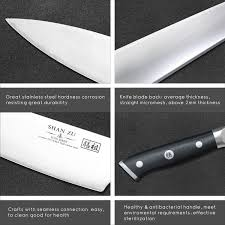 High Carbon Stainless Steel Kitchen Knives by Shan Zu Chef Knife 8 Inches High Carbon High Chrome Steel