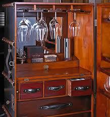 Black Bar Cabinet Stateroom Bar In Ivory Or Black Steamer Trunk Bar Cabinet