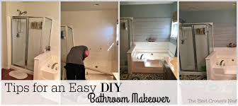 tips for an easy diy bathroom makeover