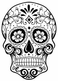 sugar skull outline skull tattoo skulltattoo sugarskull clip