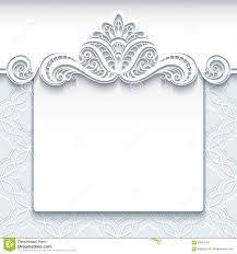 Sample Invitation Card For Wedding White Lace Background Wedding Invitation Template Stock Vector