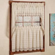 Lorraine Curtains Lorraine Home Fashions Adirondack Cotton Kitchen Window Curtains