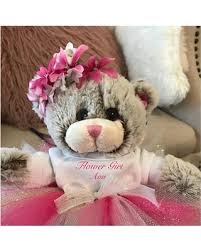 flower girl teddy gift check out these hot deals on flower girl personalized teddy