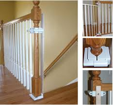 custom baby gate wall and banister no holes installation kit