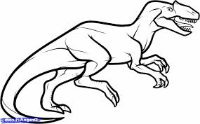 coloring pages easy dinosaurs to draw barney the dinosaur thumb