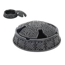 Celtic Home Decor Celtic Shield Covered Ashtray Or Dish Lidded Dish