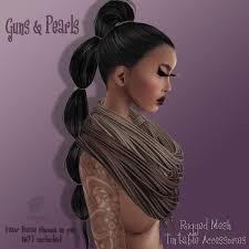 Vanity Hair Second Life Marketplace Vanity Hair Guns U0026 Pearls Blacks Mesh