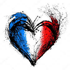 Paris Flag Image Symbolic Heart In The Colors Of The French Flag U2014 Stock Photo