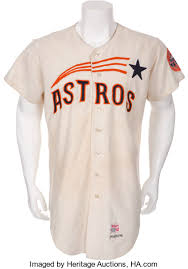 heritage uniforms and jerseys 1967 eddie mathews game worn houston astros jersey baseball