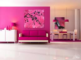 home design interior decoration modern pink living room display