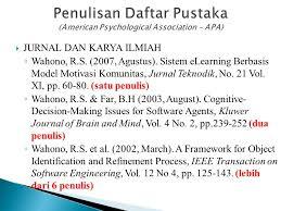 panduan penulisan daftar pustaka dari jurnal landasan teori tinjauan pustaka ppt download