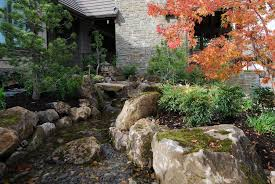 Red Landscape Rock by Asian Landscape And Yard With Pond By All Oregon Landscaping