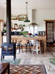 currently coveting kitchens without cabinets u2014 old brand new