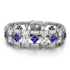 art deco cartier sapphire diamond bracelet sold anna lin 古董