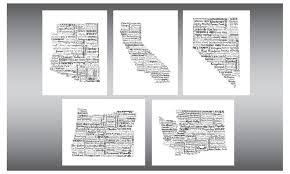 map of oregon nevada state map state print state california nevada