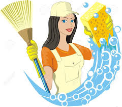 woman cleaning home clipart clipground