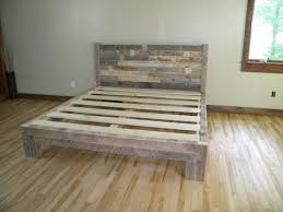 diy pallet bed pallet furniture plans skid pinterest bed