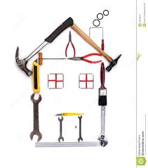 Shape Of House by Construction Tools Stock Photo Image 39248214