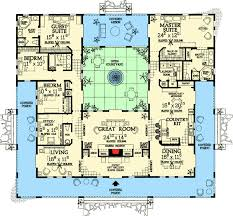 southwest floor plans open courtyard home plan 81384w florida mediterranean