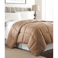 11 home design mini stripe down alternative queen comforter