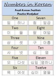 numbers in korean both korean u0026 sino u2013 practice vocabulary