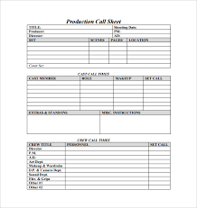 call sheet template 21 free word pdf documents download