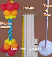 bulk party supplies wedding decorations balloon column base plastic poles