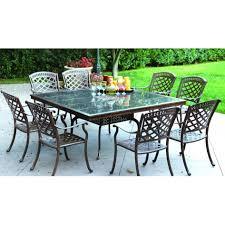 Aluminium Patio Table Patio 8 Person Outdoor Dining Cast Aluminum Set Metal Patio