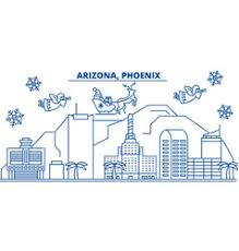 usa winter city skyline merry vector image